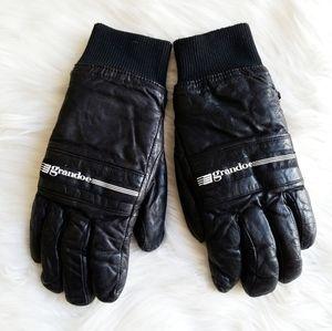 Grandoe Leather Womens Winter Gloves